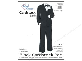 paper accents Cardstock: Paper Accents 5 x 7 in. Cardstock Pad 48 pc. Black