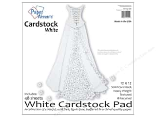 paper accents Cardstock: Paper Accents 12 x 12 in. Cardstock Pad 48 pc. White