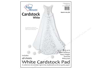 paper accents Cardstock: Paper Accents 8 1/2 x 11 in. Cardstock Pad 48 pc. White