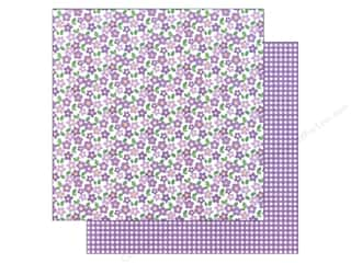 paper purple: American Crafts 12 x 12 in. Paper Basics Floral Purple (12 sheets)