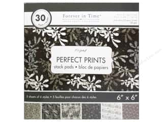 "patterned paper: Multicraft Stack Pad 6""x 6"" Perfect Prints Oxford"