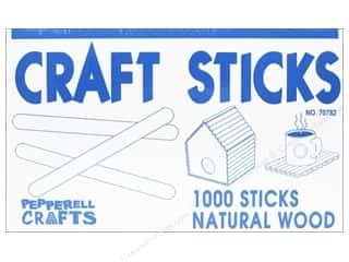 Pepperell Wood Craft Sticks 1000 pc.