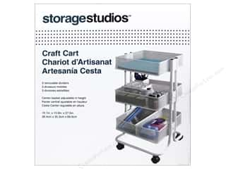 Art School & Office: Storage Studios Craft Cart with Dividers White