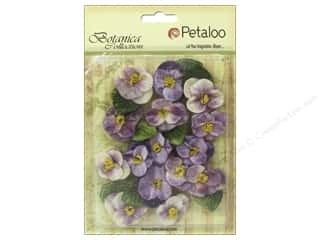 Petaloo Botanica Collection Velvet Pansies Lavender/Purple