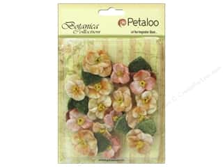 Petaloo Botanica Collection Velvet Pansies Apricot