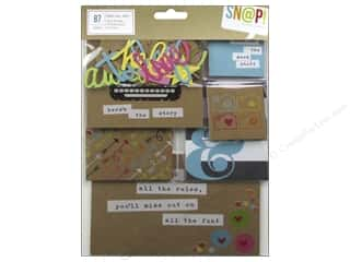 card & envelopes: Simple Stories Bits & Pieces SN@P! Pack Cards & Squares Kraft
