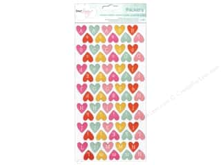 American Crafts Thickers Alphabet Stickers Dear Lizzy Fine & Dandy Confetti Hearts