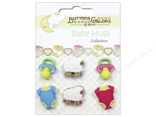 Buttons Galore Baby Hugs Buttons 6 pc. Lullaby