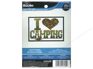 yarn & needlework: Bucilla Counted Cross Stitch Kit 6 1/2 x 4 3/4 in. I Love Camping