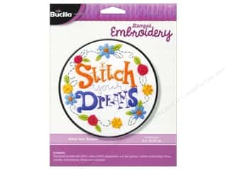 weekly specials Inkadinkado Stamping Gear Stamp: Bucilla Stamped Embroidery Kit Stitch Your Dreams