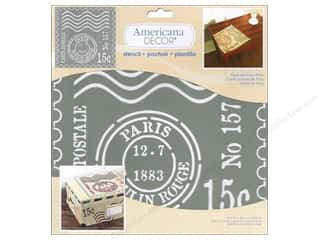 scrapbooking & paper crafts: DecoArt Americana Decor Stencil 12 x 12 in. Postcard From Paris