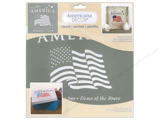 craft & hobbies: DecoArt Americana Decor Stencil 12 x 12 in. American Tribute