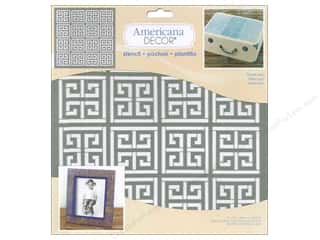stencil: DecoArt Americana Decor Stencil 12 x 12 in. Greek Key