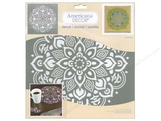 craft & hobbies: DecoArt Americana Decor Stencil 12 x 12 in. Mandala