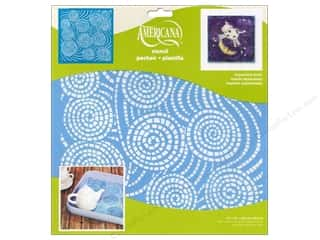craft & hobbies: DecoArt Americana Stencil 12 x 12 in. Segmented Swirls