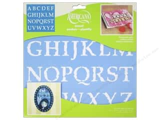 scrapbooking & paper crafts: DecoArt Americana Alphabet Stencils 12 x 12 in. Distressed