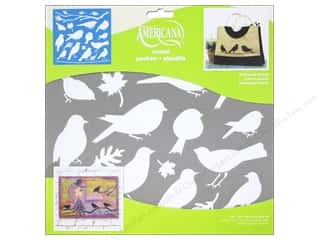 scrapbooking & paper crafts: DecoArt Americana Stencil 12 x 12 in. Feathered Friends