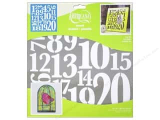 scrapbooking & paper crafts: DecoArt Americana Number Stencils 12 x 12 in. Top 20
