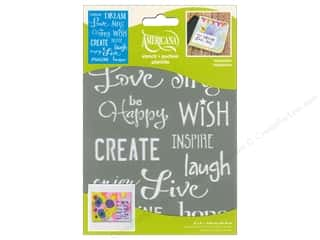 craft & hobbies: DecoArt Americana  Stencil 6 x 8 in. Inspiration