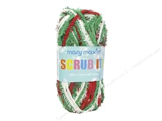yarn & needlework: Mary Maxim Scrub It Yarn 76 yd. Holiday