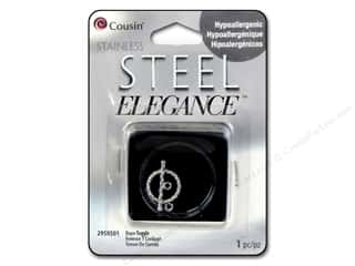 beading & jewelry making supplies: Cousin Elegance Toggle Clasp 4 x 19 mm 1 pc. Rope Stainless Steel