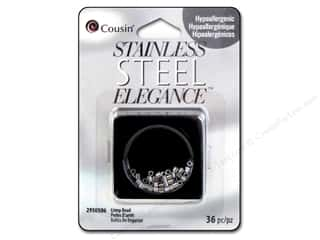 Cousin Corporation of America: Cousin Elegance Metal Crimp Bead 2 mm 36 pc. Stainless Steel