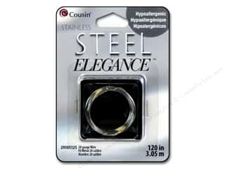 28 ga wire: Cousin Elegance Wire 28 Ga 120 in. Stainless Steel