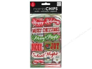 sentiment stickers: Me&My Big Ideas Sticker Designer Chipboard Holiday Tags/Numbers