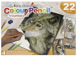 colored pencils: Royal Colour Pencil by Number Activity Set Wild Life