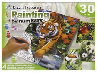 craft & hobbies: Royal Paint By Number Activity Set Tropical Life