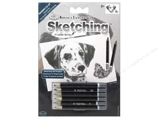 colored pencils: Royal Sketching Made Easy Mini Kit Dalmatian Pup