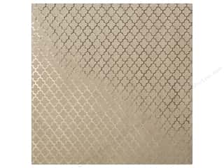 "Bazzill: Bazzill Paper 12""x 12"" Kraft With Gold Foil Lattice (15 sheets)"