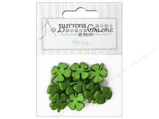 Buttons Galore Theme Buttons Glitter Shamrocks
