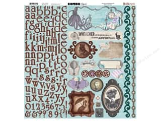 Clearance Bo Bunny Paper Collection Packs: Bo Bunny Cardstock Stickers Combo Penny Emporium (6 sets)