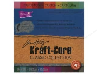 Clearance Coredinations Cardstock Packs: Coredinations Cardstock Pack 6 x 6 in. Tim Holtz Kraft Core Classic