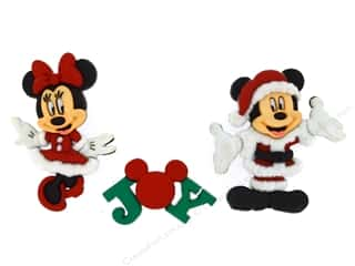 christmas embellishment: Jesse James Dress It Up Embellishments Disney Mickey & Minnie Christmas