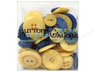 Buttons Galore Button Totes 3.5 oz. Blue & Gold