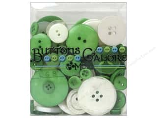 buttons: Buttons Galore Button Totes 3.5 oz. Green & White