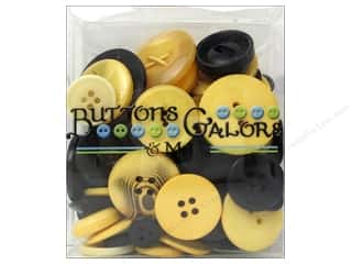 cover button: Buttons Galore Button Totes 3.5 oz. Gold & Black