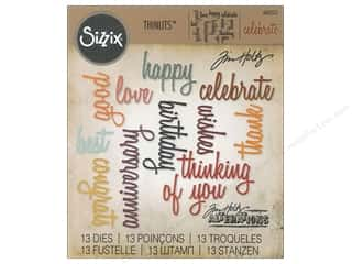 die cuts: Sizzix Thinlits Die Set 13 pc. Celebration Words: Script