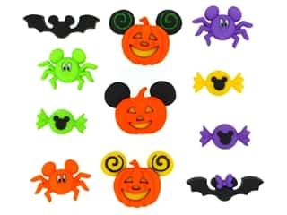 craft & hobbies: Jesse James Embellishments - Disney Mickey & Minnie Halloween