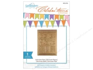 rectangle die: Spellbinders Celebrations Die Cele-Brate Plate