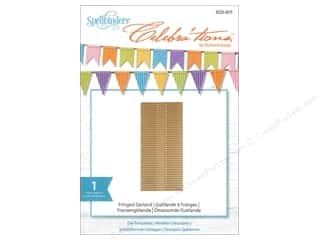 dies: Spellbinders Celebrations Die Fringed Garland