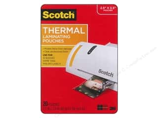 scrapbooking & paper crafts: Scotch Laminating Pouch Thermal Wallet 2.5 in. x 3.8 in. 20 pc