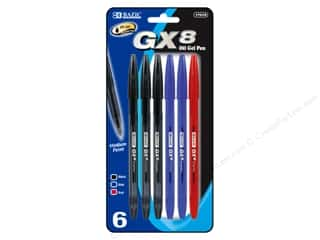 Bazic Basics GX-8 Oil Gel Pens 6 pc.