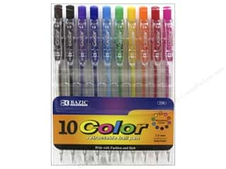 craft & hobbies: Bazic Basics Pens 10 pc. Retractable Ball Point