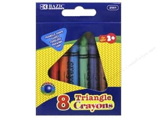 Crayons: Bazic Basics Super Jumbo Triangle Crayons 8 pc.