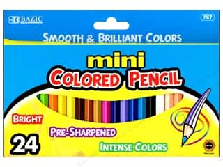 Bazic Basics Mini Colored Pencil Set 24 pc.