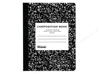 craft & hobbies: Bazic Basics Composition Book Unruled Black