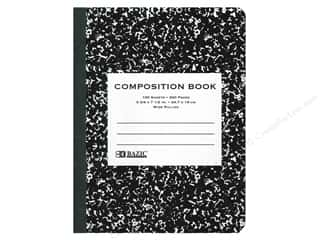 craft & hobbies: Bazic Basics Composition Book Wide Ruled Black